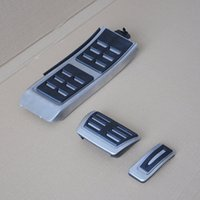 audi pedal covers - New Foot Footrest Fuel Brake AT Pedals Plate Cover Kit Set For Audi A4L A6L A5 A7 Q5