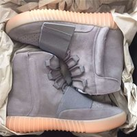 b photos - TOP Version Real Photos Kanye West Boost quot Light Grey Gum BB1840 quot Glow in the Dark Men s Sports Shoes Size Free DHL