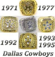 1971 1977 1992 1993 1995 Super Bowl réplica de anillos de campeonato Tamaño 11 con la caja