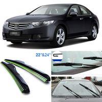 Wholesale 2pcs quot quot front windscreen windshield wiper blades Soft Rubber WindShield Wiper Blade For Honda SPIRIOR