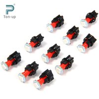 Wholesale Promotion LED Car Twist Socket Instrument Panel Dash Light Bulb T5 PC74 SMD V Dashboard Bulb Blue White Red Green