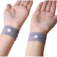Wholesale 2016 Newest Anti Nausea Waist Support Sports Cuffs Safety Wristbands Carsickness Seasick Anti Motion Sickness Motion Sick Wrist Bands