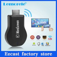 Wholesale MiraScreen TV Stick Dongle Better Than EZCAST EasyCast Wi Fi Display Receiver DLNA Airmirroring Chromecast Airplay With Retails Package DHL