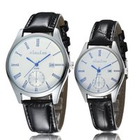 Wholesale Fashion Personality Casual Creative Luminous Design Quartz Wrist Watch With Calendar Leather Watchband For Men Women And Lovers