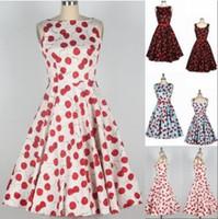 ancient dress - 2016 summer dresses for women Evening dress s Polka Dot Hepburn wind restoring ancient ways Cherry blossoms plus size black XL