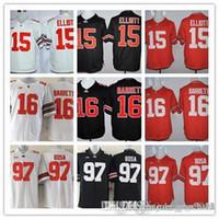 Wholesale Top quality Football Jerseys Joey Bosa Ezekiel Elliott College Jersey Red Black NCAA