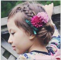 bebe yellow - 2016 Infant Baby Girls Daisy Floral Headbands Bebe Princess Bow Barrettes Babies Korean Christmas Hair Accessories