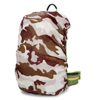 Wholesale Nylon Camouflage RainCover L Protable Waterproof Backpack Bag Rain Cover For Travel Camping Hiking Cycling Outdoor