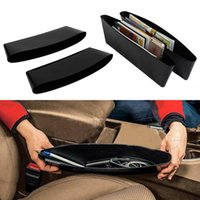 Wholesale 2 pair Auto Car Seat Gap Pocket Catcher Organizer Leak Proof Storage Box New organizador de asiento trasero hot selling