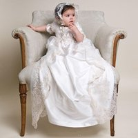 baby gowns for boys - Custom Made Flower Girl Dress Lovely Baptism Gown Long Lace Christening Gowns For Baby Girls and Boys Fashion Bristerday Party Dresses