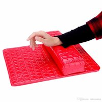 Wholesale Column Cushion Pillow Salon Hand Holder Rectangle Leather Pad Nail Arm Rest Manicure Nail Art Accessories Tools Equipment