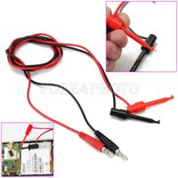 Wholesale 1 Pair V Banana Plug To Test Hook Clip Probe Cable For Multimeter M FT A