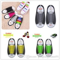Wholesale sets Easy No Tie Shoelaces Silicone Elastic Athletic Shoe Laces Sneaker Laces
