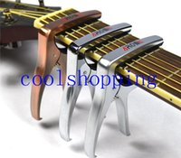 Metal, Rubber acoustic bass tuning - Electric Acoustic Guitar Capo Bass Violin Ukulele Capotraste Single handed Tune Clamp