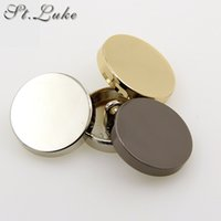 Wholesale Hot sale new fashion decorative buttons high quality plane gold buttons for men shirt suit overcot sewing accessories DIY