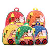 baby toddler books - New Cute Kids School Bags Cartoon Animal Applique Canvas Backpack Mini Baby Toddler Book Bag Kindergarten Rucksacks