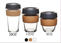Wholesale New The best quality hot KeepCup keepcup Brew Glass Reusable Coffee Cup Tumbler oz oz oz