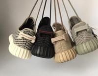 Wholesale New Originals Y Boost Kanye West Running Shoes Men Women Low Cut Y Boost Sneakers Black Moonrocks Y BOOST Footwear