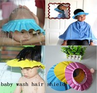 Wholesale Kids Baby Shampoo Bath Shower Cap Adjustable Baby Shower Hat Wash Hair Shield pces