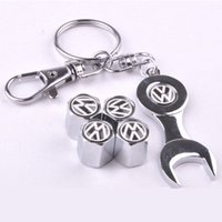 acura wheel caps - GPS New Hot Sale Car Wheel Tire Valve Caps with Mini Wrench Keychain for VW Volkswagen Piece Pack