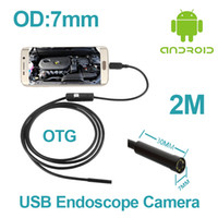 android phone len - M Micro USB Endoscope For Android Phone With OTG Cable mm len inspection Pipe Waterproof Side mirrors P HD micro USB Camera