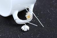 c037 - C037 fashion real sterling silver snowflake crystal women s Gemstone stud earrings jewelry
