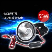 Wholesale 12V W T6 LED headlamp high power Super Bright storage battery head fishlight for Hunting Camping fishing
