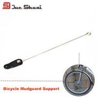 Wholesale 20 quot quot quot C A Pair Road Bike Front Wheel Mudguards Support Stainless Steel Vintage V Brake Solid Fenders Support Para E Bike
