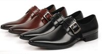 Wholesale Italian luxury mens shoes casual oxfords black brown designer genuine leather shoe men flats office wedding