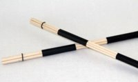 Wholesale Pair of Jazz Drum Brushes Black Rubber Handle with White Nylon Drum Brush handle light brush cleaner