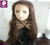 beautiful lace wigs - beautiful Brown Straight Virgin Brazilian hair Full lace wig