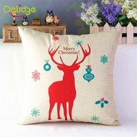 Wholesale 1 Christmas Elk Shape Pillow Case Christmas Elk Print Pillow Cases Creative Red Green Beer Pillow Home Covers