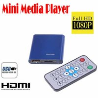 Wholesale by dhl or ems pieces Mini Full HD P Player with Remote Control AV HDMI Output Support USB SD MKV RM RMVB