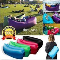 Cheap 2016 LAYSACK Lamzac air bag sofa Kaisr laybag nylon Fast Infaltable Sleeping Bag outdoor Beach camping Bed hangout chair air pad 10 PCS