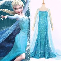 Wholesale Queen Elsa Cosplay Dress Snow Princess Cosplay Costume Adult Size S W1