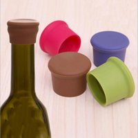beer bottle stopper - New arrival Creative Silicone Rubber Wine Beer Bottle Stopper Cap Cover Sealer Pure Color QW