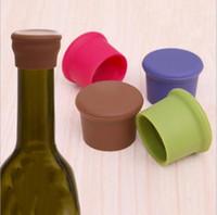 bottle sealer - New arrival Creative Silicone Rubber Wine Beer Bottle Stopper Cap Cover Sealer Pure Color QW