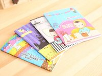 Wholesale 6pcs lothot kawaii stationery products lovely girls small notebook paper student diary book cuadernos