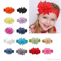 Wholesale Sweet Kids Girls Bow Lace Headbands Multi Color Fashion Party Holiday Hair Accessories Ponytail Headbands