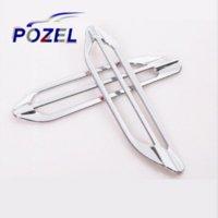 ac glue - For Peugeot air conditioning air outlet decoration paillette dedicated AC vent sticker PAIR