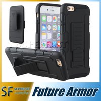 armor holster - For Galaxy S7 Future Armor Impact Hybrid Case for Iphone S Case with Belt Clip Holster Kickstand Combo Case LG G Stylo with Opp Package