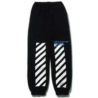 Wholesale ss new version off white blue collar print jogger sweatpants jogging pants off white c o virgirl abolh