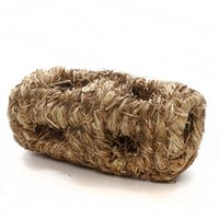 Wholesale Sundog Handmade Holes Natural Woven Grass Hide out Tunnel Rodent House SD6041