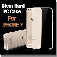 Plastic clear plastic case - 1mm Super Thin Crystal Clear Transparent Hard PC Plastic Case Shell For iPhone S Plus S Samsung S7 S6 Edge Note Free Ship