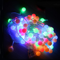 Wholesale 10M led string lights with led ball AC220 V holiday decoration lamp Festival Christmas lights indoor outdoor Christmas Party lighting