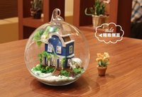 Wholesale DIY Handmade Toy D LED LIGHT crystal ball mini series Dollhouse love of the Aegean sea kit Christmas gift for Child