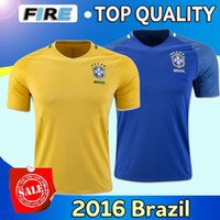 america national - 2016 Copa America Brazil national team soccer jerseys Uniforms PELE Neymar Jr Silva David Luiz Hulk Oscar Maillot de foot football shirts