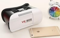 Wholesale Universal Google Cardboard VR BOX Virtual Reality D Glasses Game Movie D Glass For iPhone Android Mobile Phone Camera