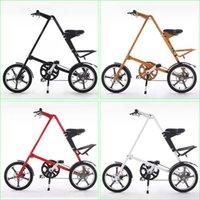 Wholesale Strida Folding Bike STRIDA Inch Aluminum alloy Foldable Bike Flexible Twp Size Spokes Wheels Colors