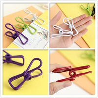 Wholesale 100set set Colors Multifunction Portable Clips Travel Towel Drying Racks Socks Sealing Clip Clothing Food Stoarge Supplies ZA0606